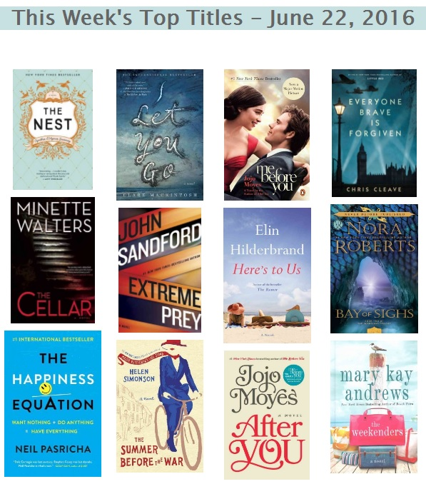 Bestsellers 06 22 2016
