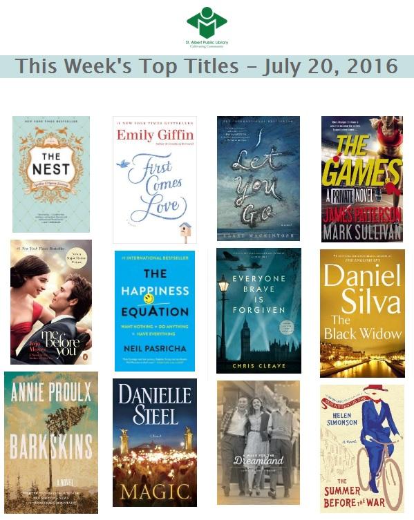 Bestsellers 07 20 2016