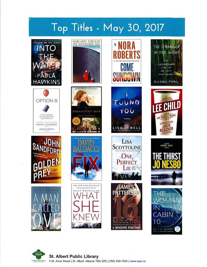 Bestsellers 05 30 2017