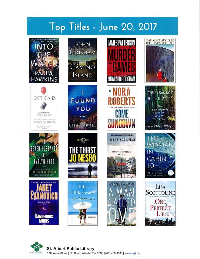 Bestsellers 06 20 2017