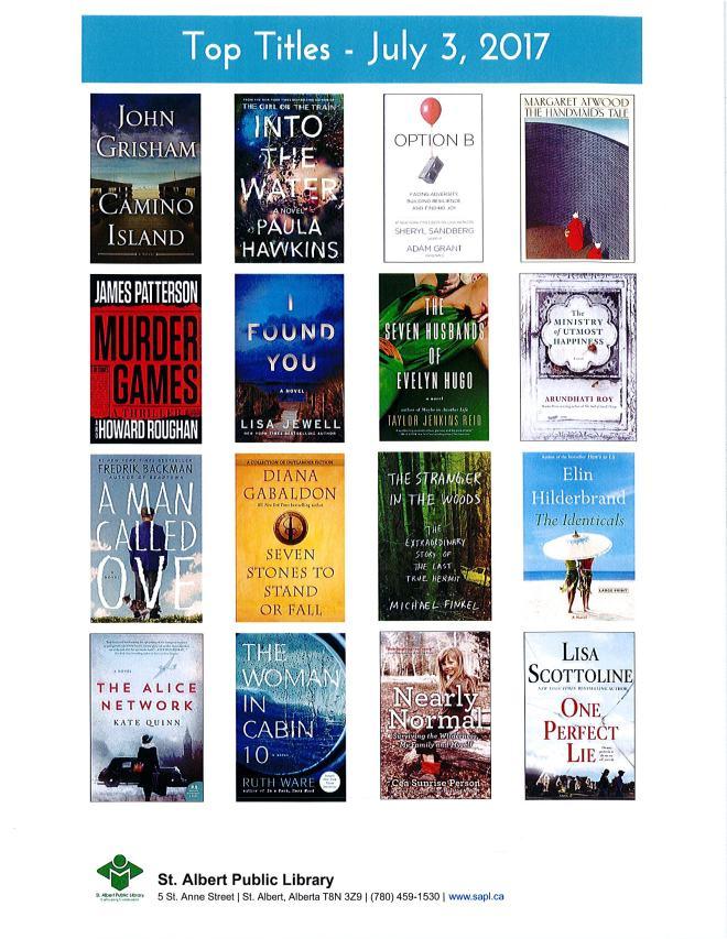 Bestsellers 07 03 2017