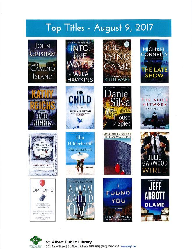 Bestsellers 08 09 2017