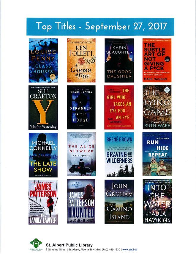 Bestsellers 09 27 2017