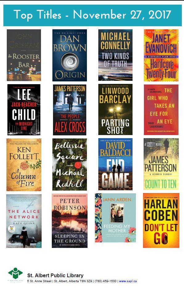 Bestsellers 11 27 2017